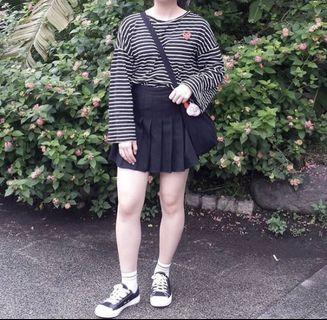 AA裙 網球裙(黑色)
