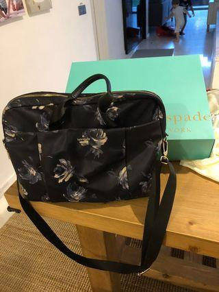 🚚 Kate Spade Night Rose 15-inch Commuter Blue Nylon Laptop Bag