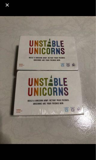 Unstable unicorn card game basic set white box