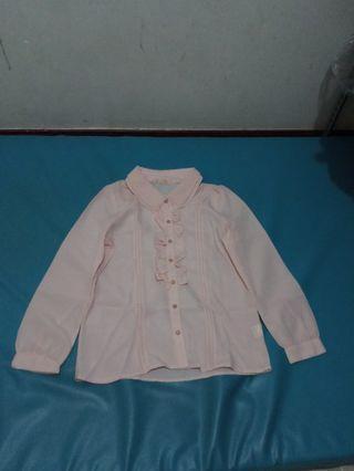 Pink top / blouse atasan kemeja wanita