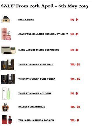 SALE! 5ml/10ml Fragrance [Decants]