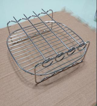 Stainless Steel Double layer rack with skewers for Air fryers (Philips)