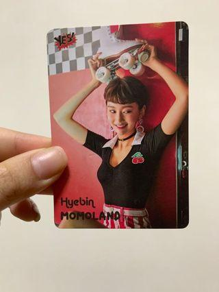 Yes! Card Momoland Hyebin