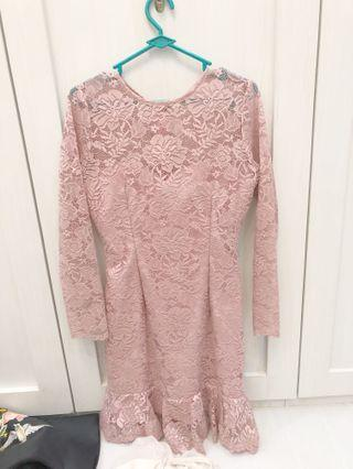 Lacey pink dress