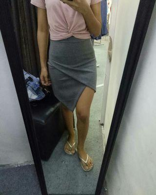 Navy / Grey Skirt (Rok Mini Abu2 - Biru Dongker)