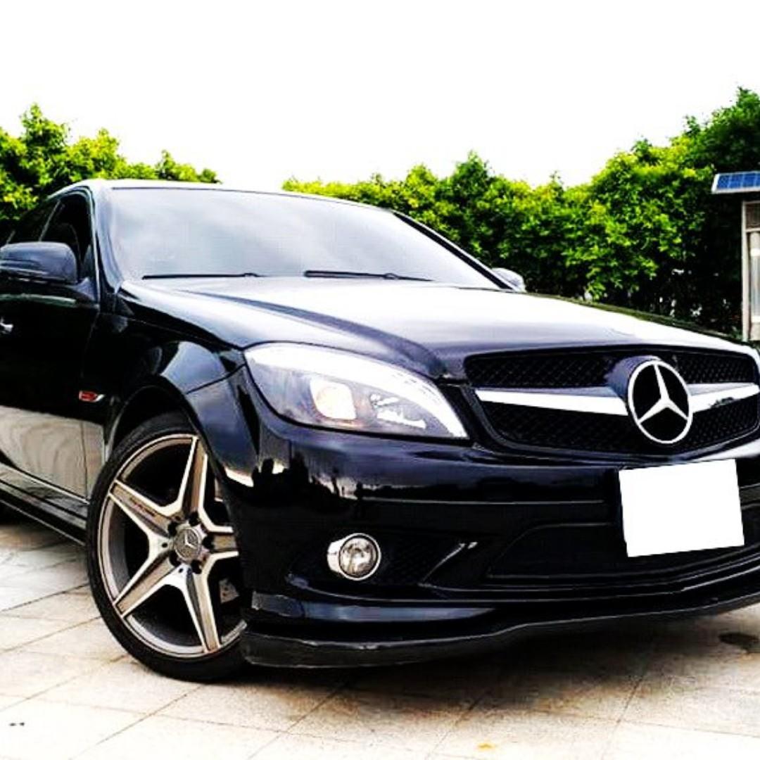 2008年頂級C300 3.0~可全額貸.0頭款交車專案.全車AMG套件+AMG鋼圈.四出排氣管(聲浪)