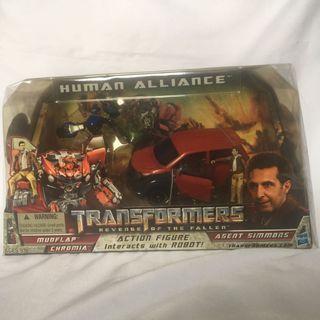 🚚 Transformers ROTF HUMAN ALLIANCE MUDFLAP CHROMIA AGENT SIMMONS MISB RARE!
