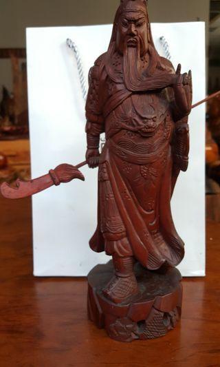 🚚 木雕關公像,關老爺,關羽