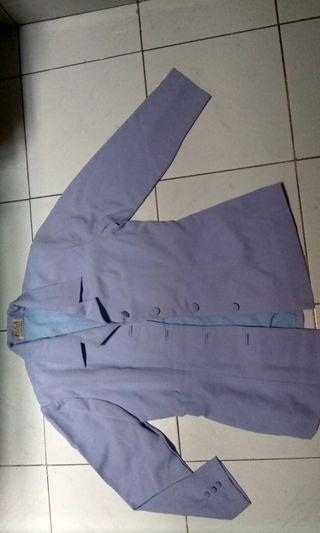 Blazer satu set warna ungu kemudaan