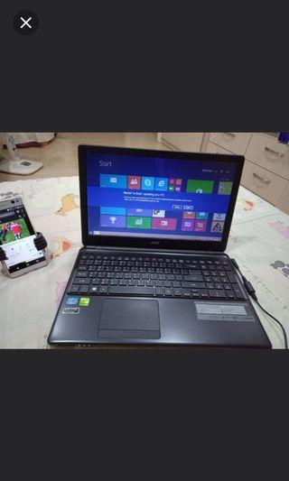 acer 1570g  core i7 ,4gb