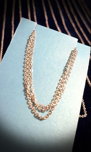 🚚 Fashionable Necklace Chain - Korea  made Silver