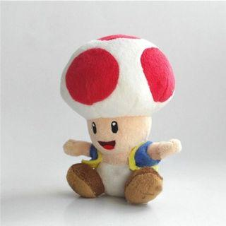 [PO] Super Mario Bros Red Toad Stuff Toy Plushie Doll
