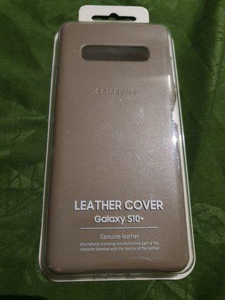 Samsung S10+ Leather Brown Case
