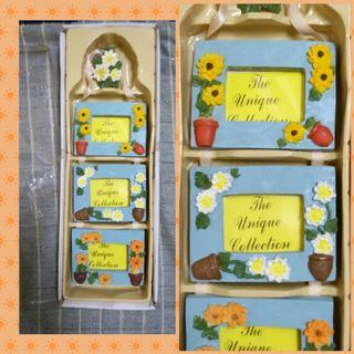 Floral pattern photo frame (3 in 1)