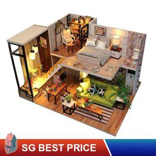 ❤️(SG BEST) HOOMEDA DIY Dollhouse with LED: Enjoy the Romantic Europe (M030) – 带你去浪漫的北欧 – 弘达 Hongda Doll House [BEST PRICE GUARANTEED – LITTLEBUILDERS 3D PUZZLES – IDEAL GIFT]