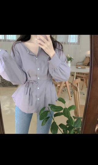 全新 紫色上衣恤衫