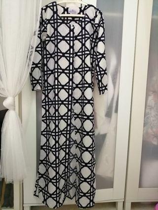 #CarouRaya Abstract Long Cardigan