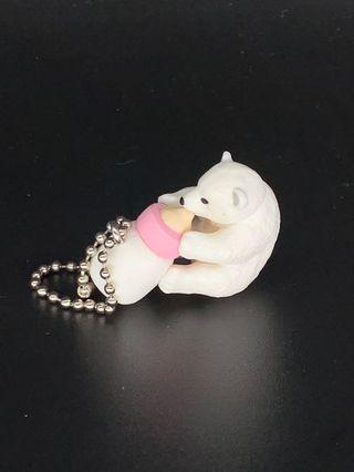 🚚 喝奶瓶的北極熊吊飾