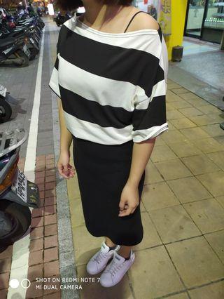 🚚 韓版 黑白條紋上衣 百搭基本款 韓國帶回