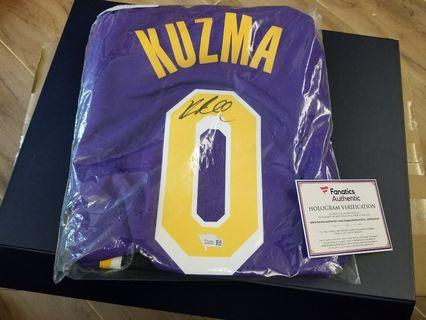 Brand new Lakers Kuzma signed swingman jersey with Fanatics cert.