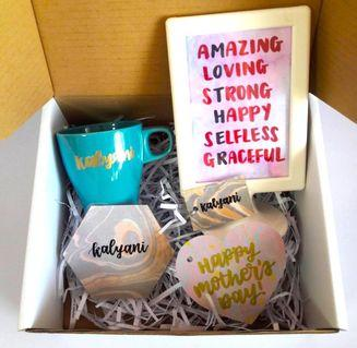 Customisable birthday mother mother's Day Customise Graduation Farewell teacher Customise Personalised personalise customised calligraphy Friend colleagues friends present presents gift gifts Colleague cheap bridesmaid box set mothers' bulk corporate