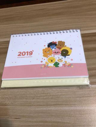 2019Kakao friends座檯月曆