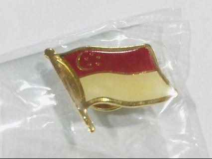 Singapore 🇸🇬 flag collar pin!