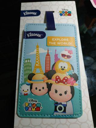 BNIB Tsum Tsum Mickey Disney Luggage Tag Kleenex