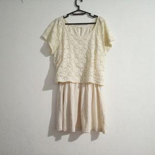 dress / white dress / woman blouse / mini dress #belanjaindong