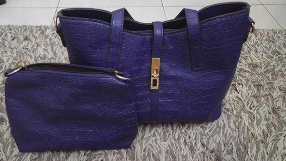Dark blue fashion bag