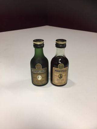 2 x Vintage Unopened Miniature Martell Liquor For Sale