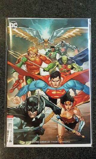 DC Justice League #22 var ed