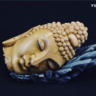 Buddha head diorama