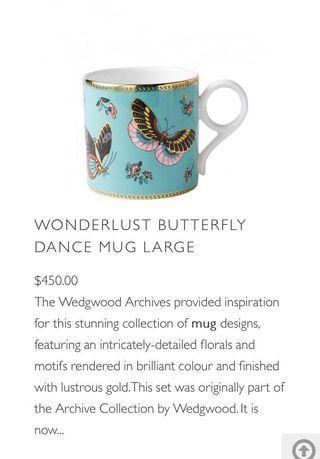 WEDGWOOD Wonderlust Butterfly Dance Mug