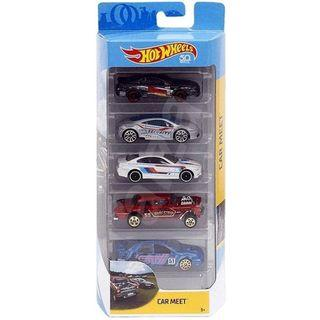 Hotwheels 2018 Car Meet 5-pack Rare Hot Wheels