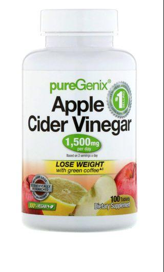 Purely Inspired, PureGenix, Apple Cider Vinegar+, 1,500 mg, 100 Tablets