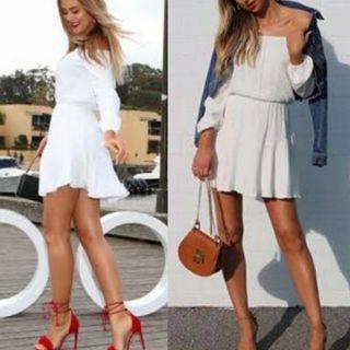 KOOKAI White Off Shoulder Dress 36 (8)