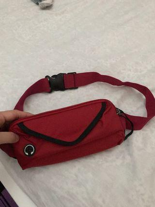 Red Fanny Pack/ Waist bag