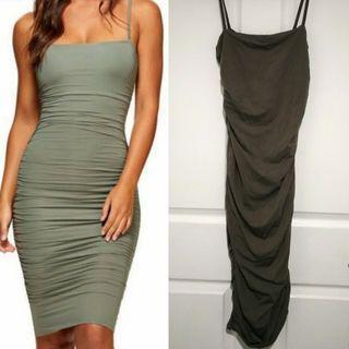 KOOKAI Belinda Dress Olive Green 1