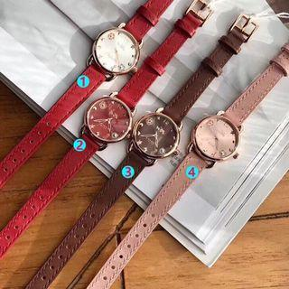 AUTHENTIC COACH VINTAGE ROUGE LEATHER STRAP PATERN