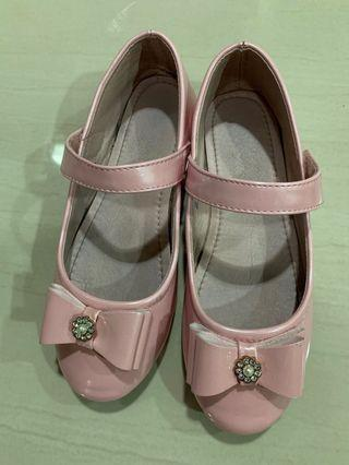 Girl's Pink covered shoes