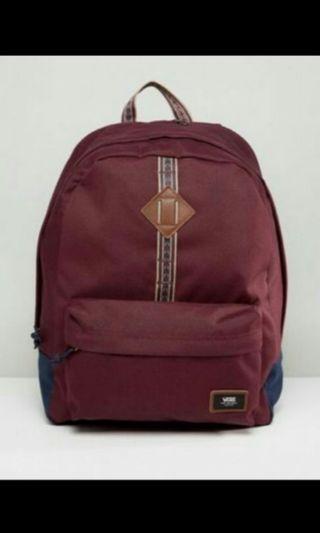 🚚 Vans old skool Backpack burgundy