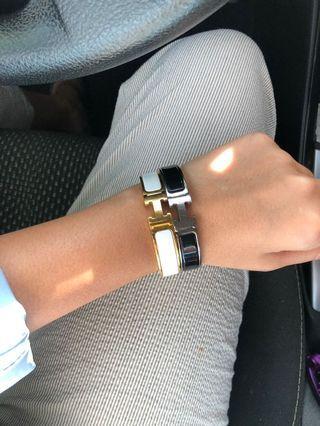 Authentic Hermes Clic Clac Bracelet