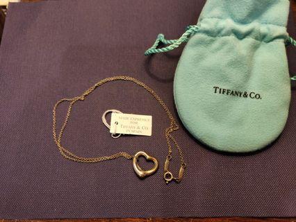 Tiffany&Co. 925 純銀 Tiffany 蒂芬妮 簍空愛心型項鍊