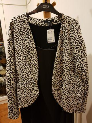 H&M Jacket Black and White