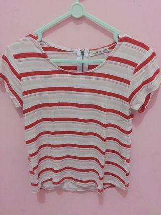 cotton on stripes tshirt