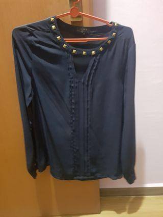 🚚 Zalora Stud collar long sleeve top