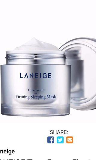 🚚 Laneige Time Freeze Firming Sleeping Mask