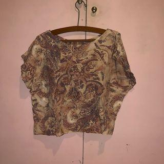 Crop top batik bigsize