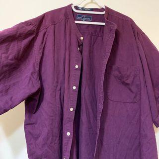 🚚 日本古著紫色襯衫